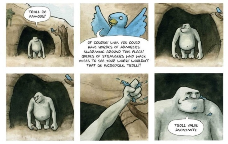 Troll strip by Hannah Berry